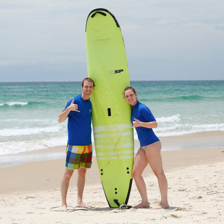 private surf lesson byron bay